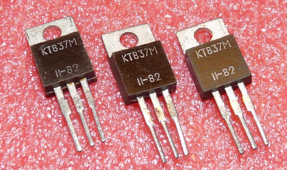 KT 837 M, (КТ837М) pnp, 30W, 80V, 7,5A